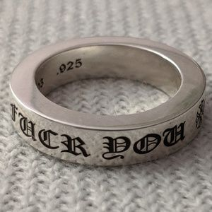 Chrome Hearts Fuck You Ring